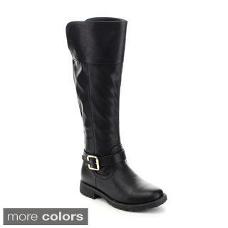 Kids Zone Big Girl's BOOTS-04 Ankle Strap Riding Boots
