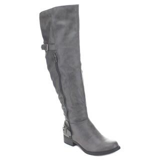 Soda Women's Saver-S Inside Zipper Knee High Riding Boots