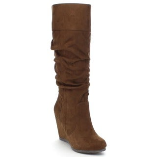 City Women's Classified Escort Knee High Wedge Boots