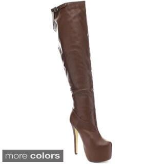 Eye Candie Sparkles-328 Women's Platform Boots