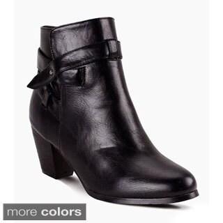 Miim Women's 'Tory-06' Western Style Side Zipper Ankle Booties