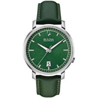 Bulova Accutron II Men's 96B215 Quartz Green Leather Watch