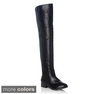 NY VIP Women's Paisley Flushed Stitching Riding Boot