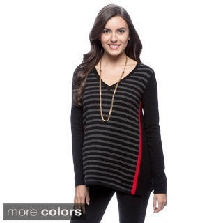 Ply Cashmere Women's Boatneck Asymmetric Pullover