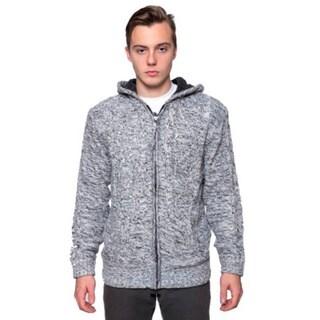 Men's Sherpa Marled Grey Zip Hoodie