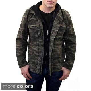 Men's Two-Piece Zip Camo Jacket