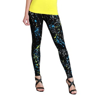 Nikibiki Women's Seamless Paint Splatter Ankle Length Leggings