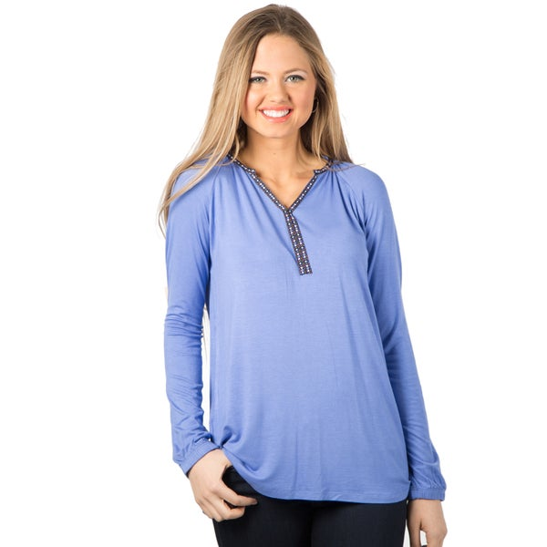 DownEast Basics Boho Ribbon Trimmed Tunic