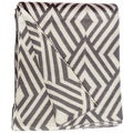 Nakano Knit Charcoal and White Cotton Throw Blanket (India)