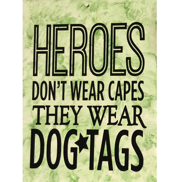 Heroes Ceramic Tile with Vinyl