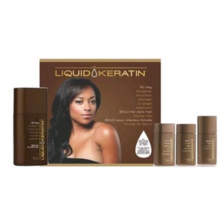 Liquid Keratin 30-day Straighter Smoother Stronger and Longer Bold for Dark Hair Starter Kit