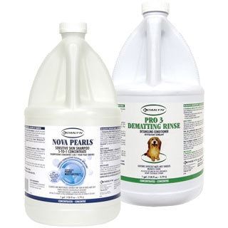 Tomlyn Nova Pearls Sensitive Skin Shampoo 5-to-1 Concentrate and Pro 3 Dematting Rinse Detangling Conditioner