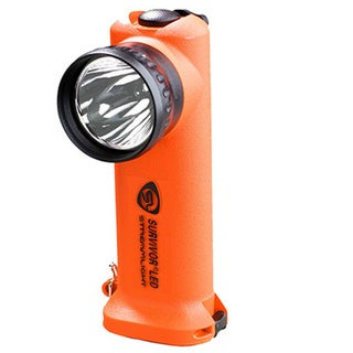 Survivor LED Flashlight (Orange Battery Powered)