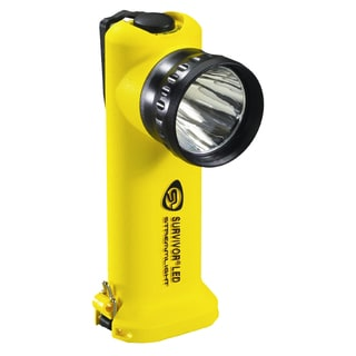 Survivor LED Flashlight (Yellow Battery Powered)