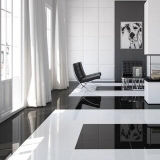 SomerTile 17.875x17.875-inch Pianoforte White Ceramic Floor and Wall Tile (5 tiles/11.33 sqft.)
