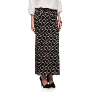 Lucky & Coco Missy Beehive Print Maxi Slit Skirt