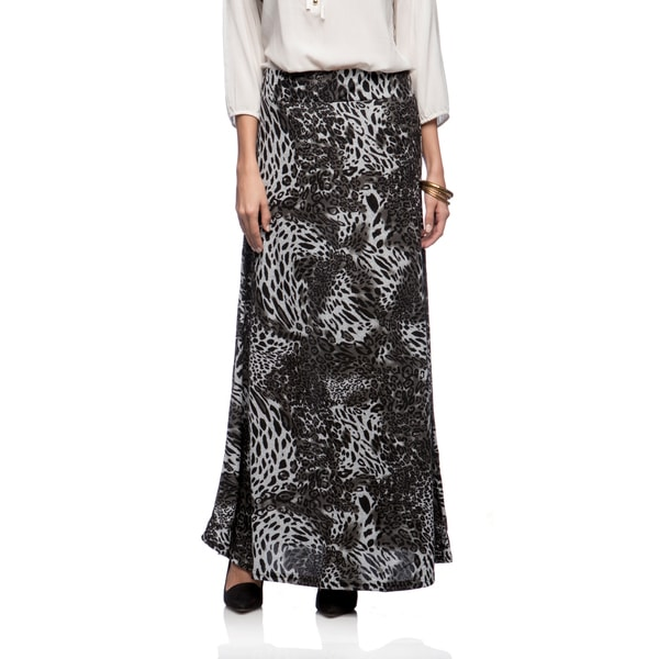 Lucky & Coco Missy Leopard Print Maxi Skirt