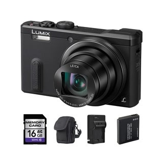 Panasonic ZS40 Black Digital Camera and 16GB SD Card Bundle