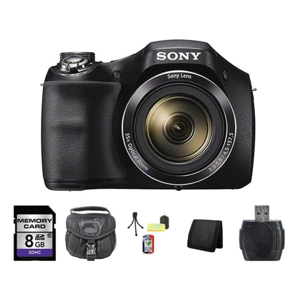 Sony H300 Black Digital Camera 8GB Bundle