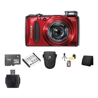 Fujifilm F500EXR Red 16MP Digital Camera 4GB Bundle