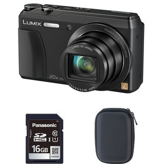 Panasonic ZS35 Black Digital Camera and 16GB SD Card Bundle (Refurbished)