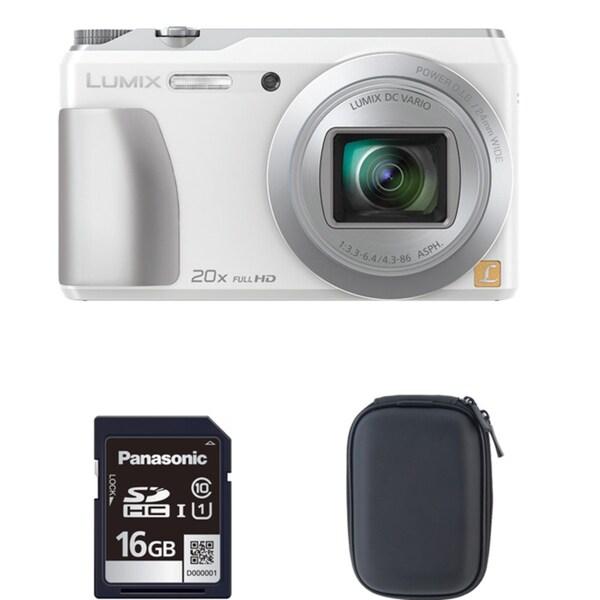 Panasonic ZS35 White Digital Camera and 16GB SD Card Bundle (Refurbished)