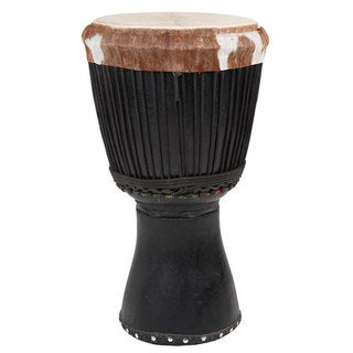 X8 Drums Large Black Painted Djalla Wood West African Djembe (Ivory Coast)