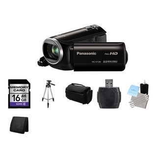 Panasonic HC-V130 HD Camcorder 16GB Bundle