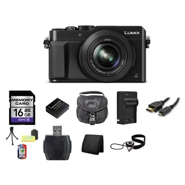Panasonic Lumix DMC-LX100 12.8MP Black Digital Camera and 16GB SD Card Bundle