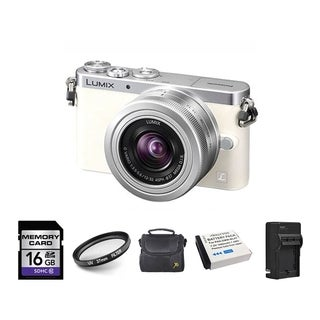 Panasonic GM1 White Digital Camera with 12-32mm Lens and 16GB SD Card Bundle