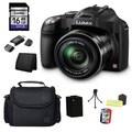 Panasonic Lumix DMC-FZ70 16MP Black Digital Camera and 16GB SD Card Bundle