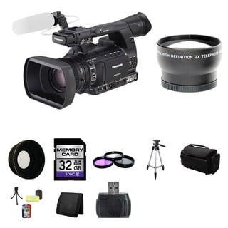Panasonic AG-AC160A AVCCAM HD Handheld Camcorder 32GB Bundle