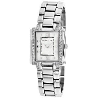 Anne Klein Women's 10-9871MPSV Classic Square Silver Bracelet Watch