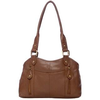 Great American Leatherworks Pecan Leather Satchel
