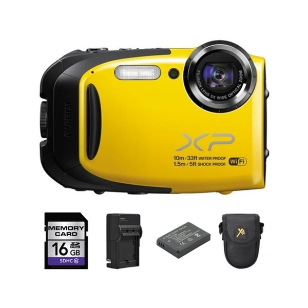 Fujifilm XP70 Yellow Digital Camera and 16GB SD Card Bundle