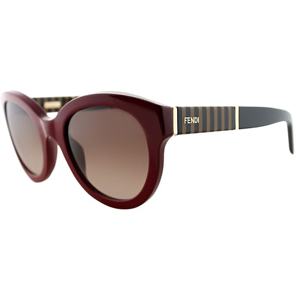 Fendi Womens FS 5350 604 Red Rounded Sunglasses