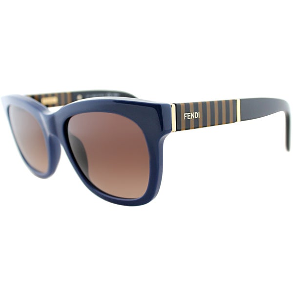 Fendi Womens FS 5351 442 Blue Square Sunglasses