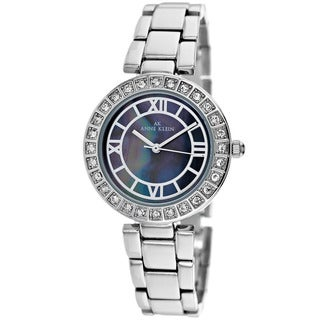 Anne Klein Women's 10-9621GMSV Classic Round Mother of Pearl Watch