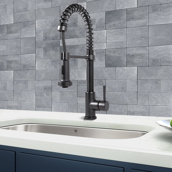 Vigo Matte Black Pull out Spray Kitchen Faucet