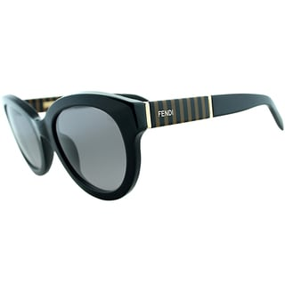 Fendi Womens FS 5350 001 Black Rounded Sunglasses