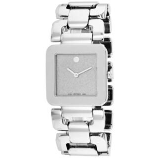 Movado Women's 0606544 Luma Square Silvertone Watch