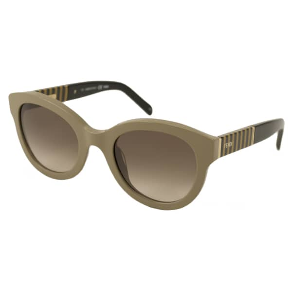 Fendi Womens FS 5350 318 Khaki Rounded Sunglasses