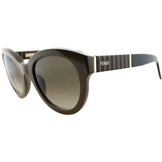 Fendi Womens FS 5350 318 Khaki Rounded Sunglasses