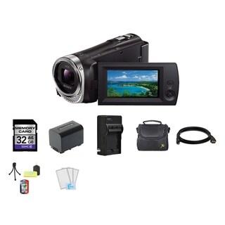 Sony CX330 HD Handycam Camcorder 32GB SD Card Bundle