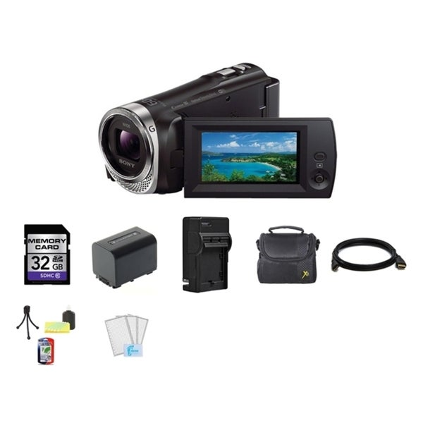 Sony CX330 HD Handycam Camcorder 32GB SD Card Bundle