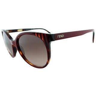 Fendi Womens FS 5344 216 Vintage Havana Round Sunglasses