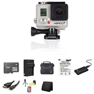 GoPro HERO3+ Silver Edition Camera 4GB SD Card Bundle