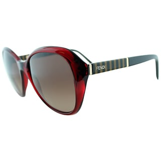 Fendi Women's FS 5348 604 Transparent Red Cat Eye Sunglasses