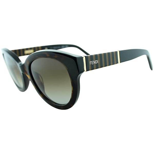 Fendi Womens FS 5350 214 Havana Rounded Sunglasses