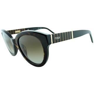 Fendi Womens FS 5350 214 Havana Rounded Sunglasses